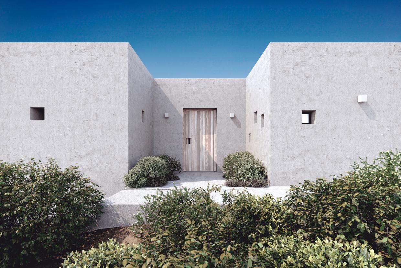 Villa on paros in 3d max corona render image