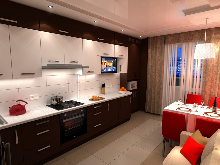 "Kitchen ""chocolate"" in Chernihiv in 3d max vray image"