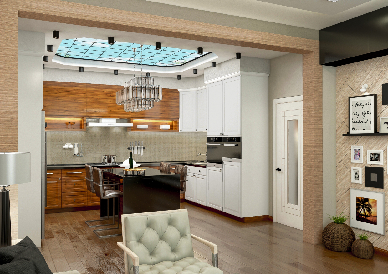 Kitchen in 3d max vray 3.0 image