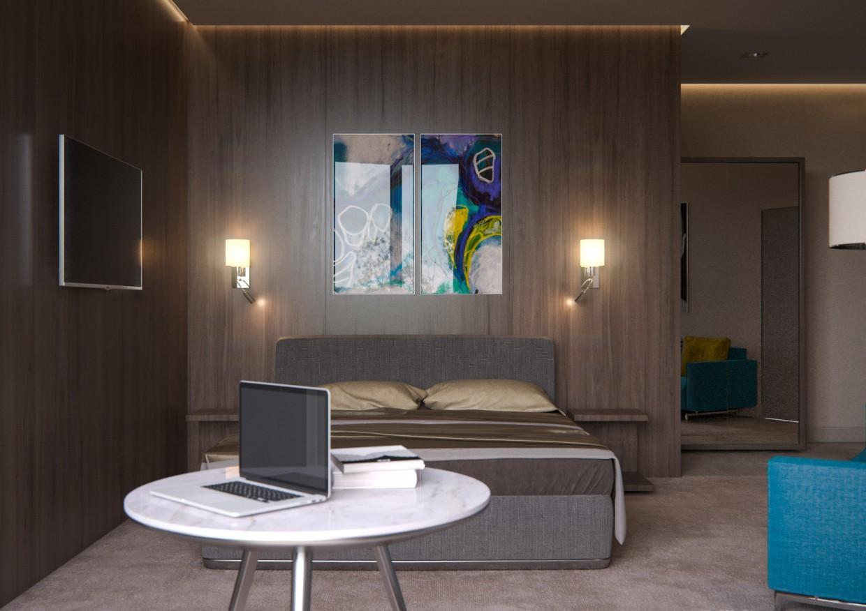imagen de Habitación Z.a.l.e.s.k.i en 3d max corona render