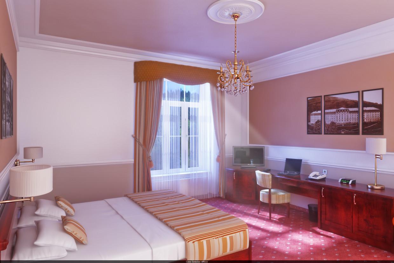 Номер в Hotel Radium Palace (Яхимов, Чехия). в 3d max vray 3.0 изображение