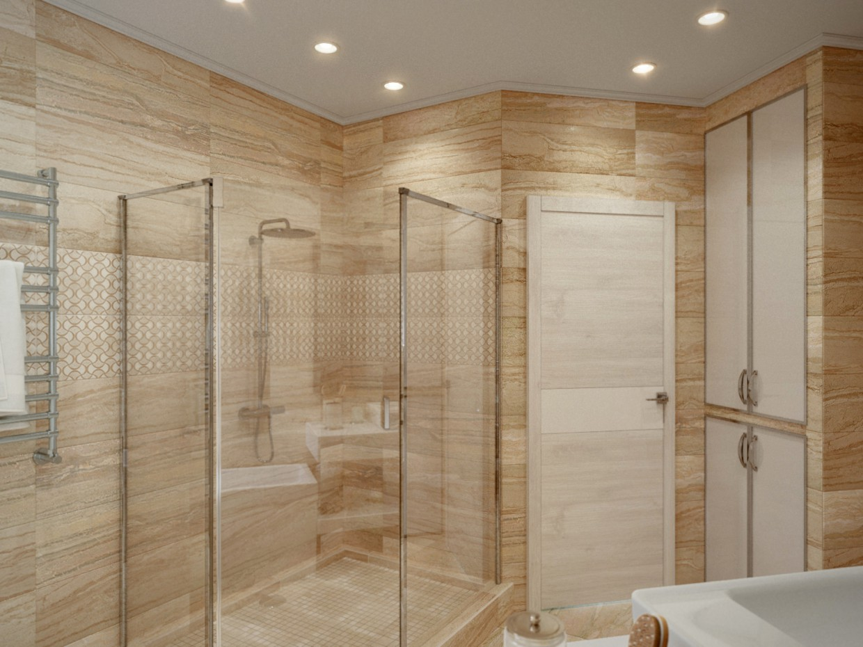 A Bathroom in 3d max corona render image