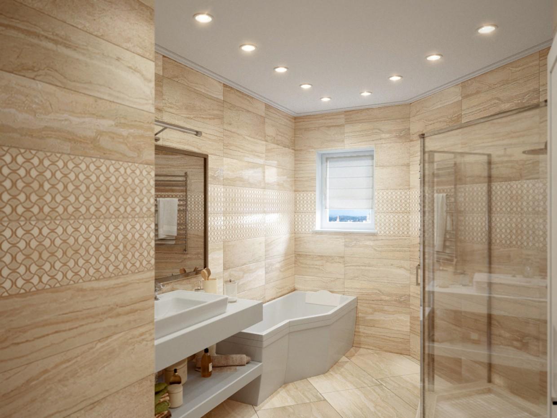imagen de Un cuarto de baño en 3d max corona render