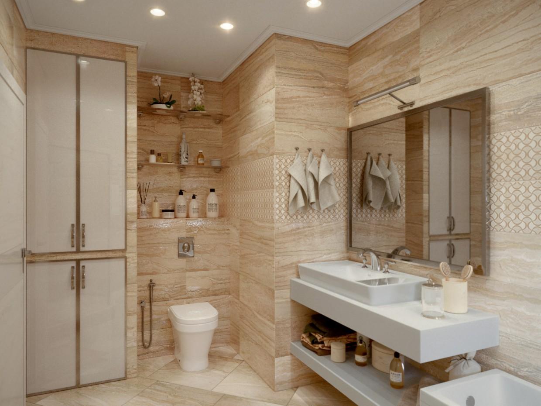 A Bathroom in 3d max corona render image
