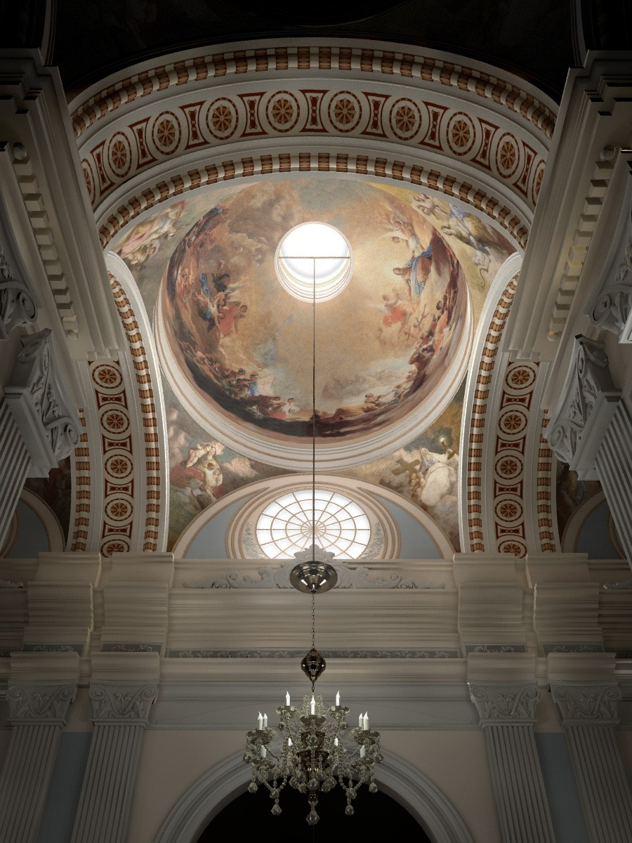 Купол Regina Martyrum в 3d max vray 2.5 зображення