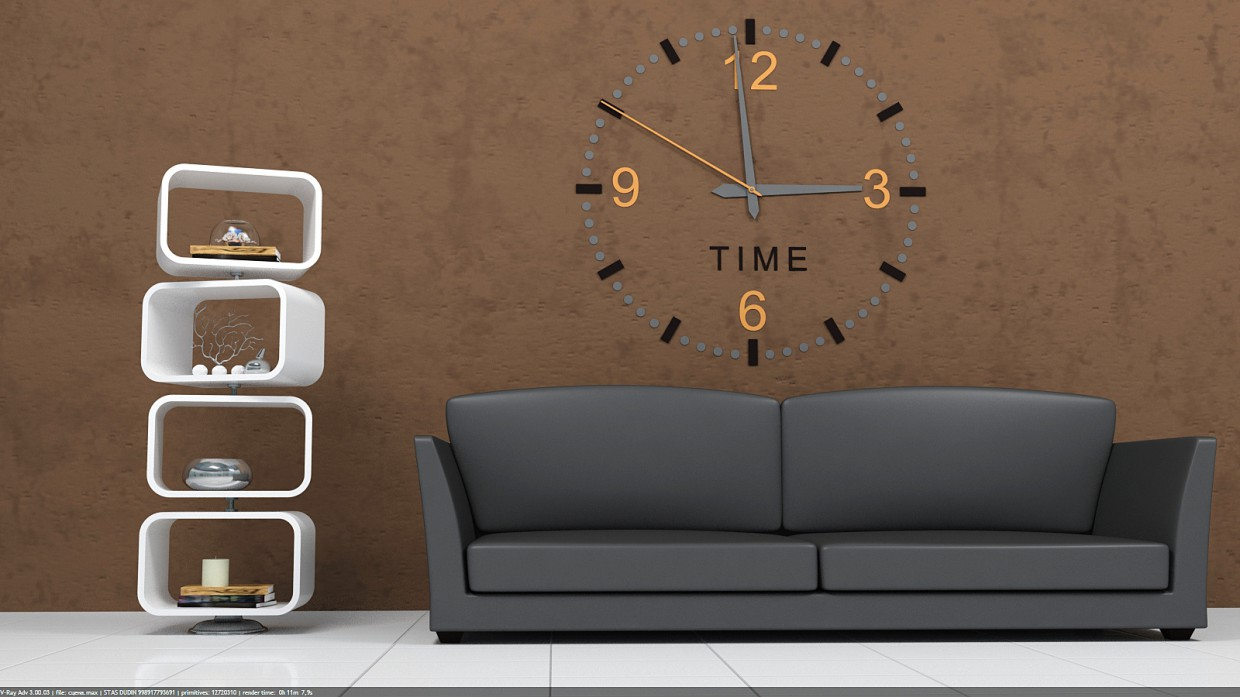 The idea for the living room in 3d max vray 3.0 image