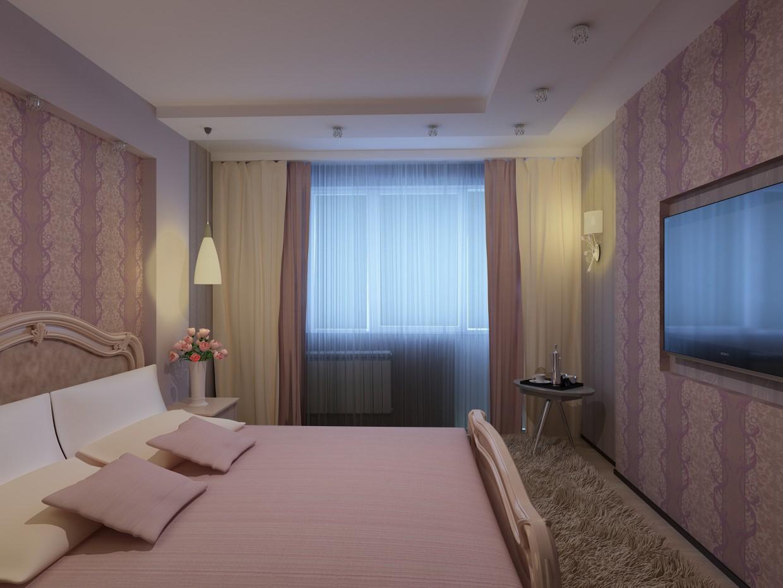 Bedroom interior in 3d max vray image
