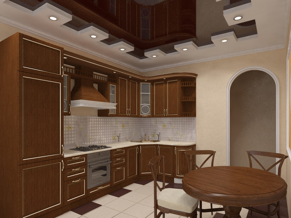 Кухня в 3d max vray зображення