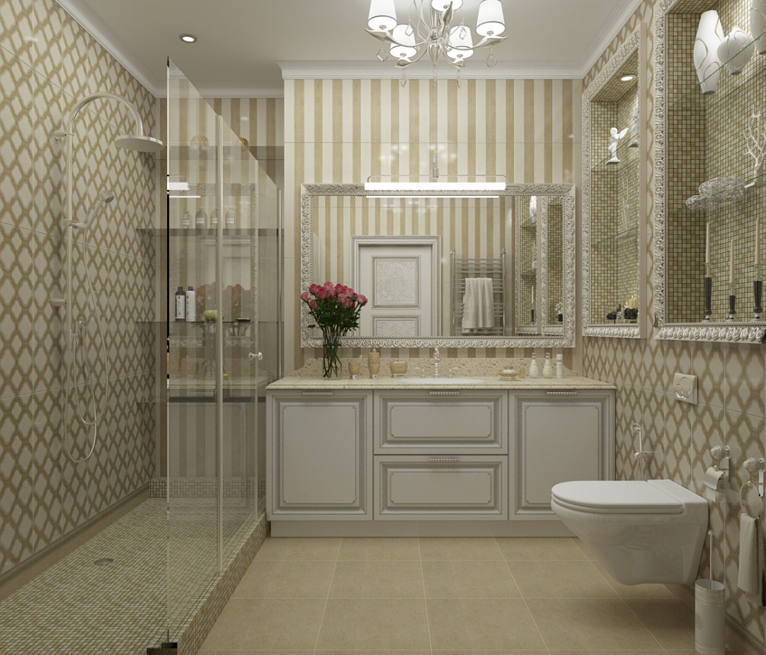 a bathroom in 3d max vray image