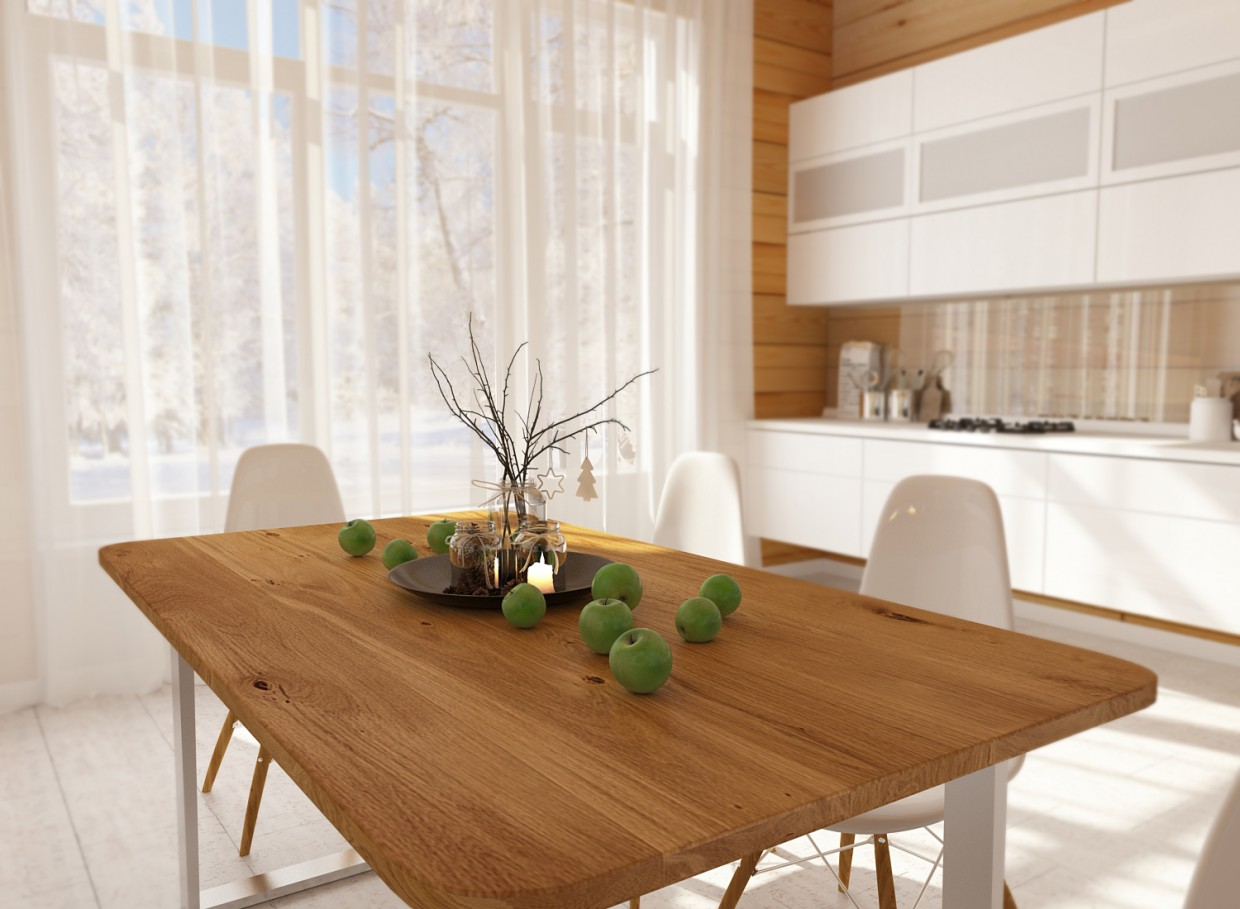 3d visualization of the project in the kitchen 3d max, render vray 3.0 of Расима Гайфутдинова