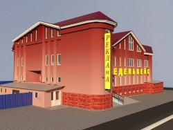 Progetto del complesso commerciale