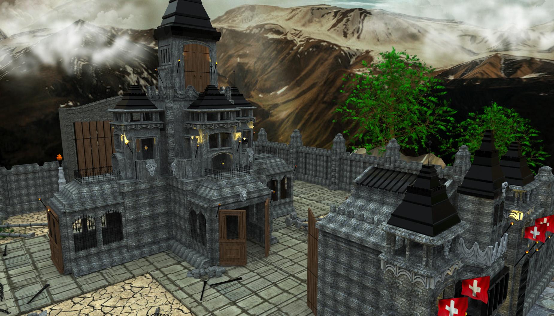 प्राचीन महल 3d max vray 3.0 में प्रस्तुत छवि