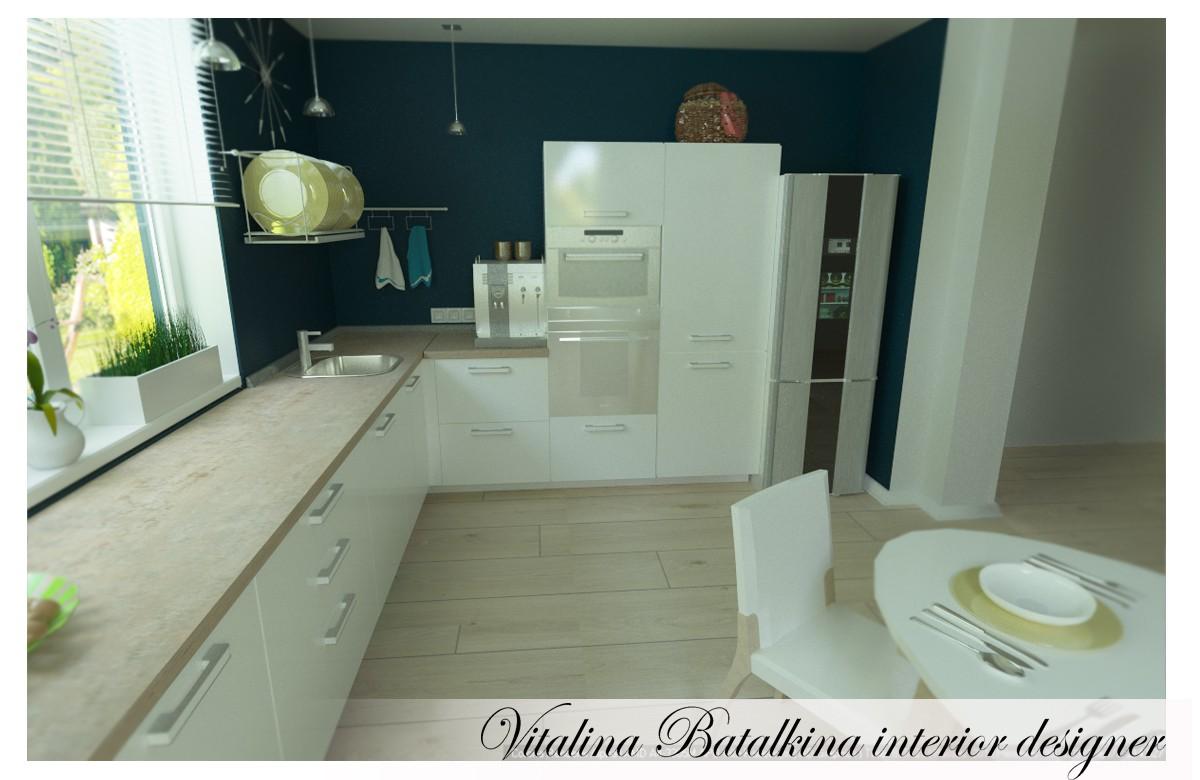 imagen de Otra cocina) en 3d max corona render