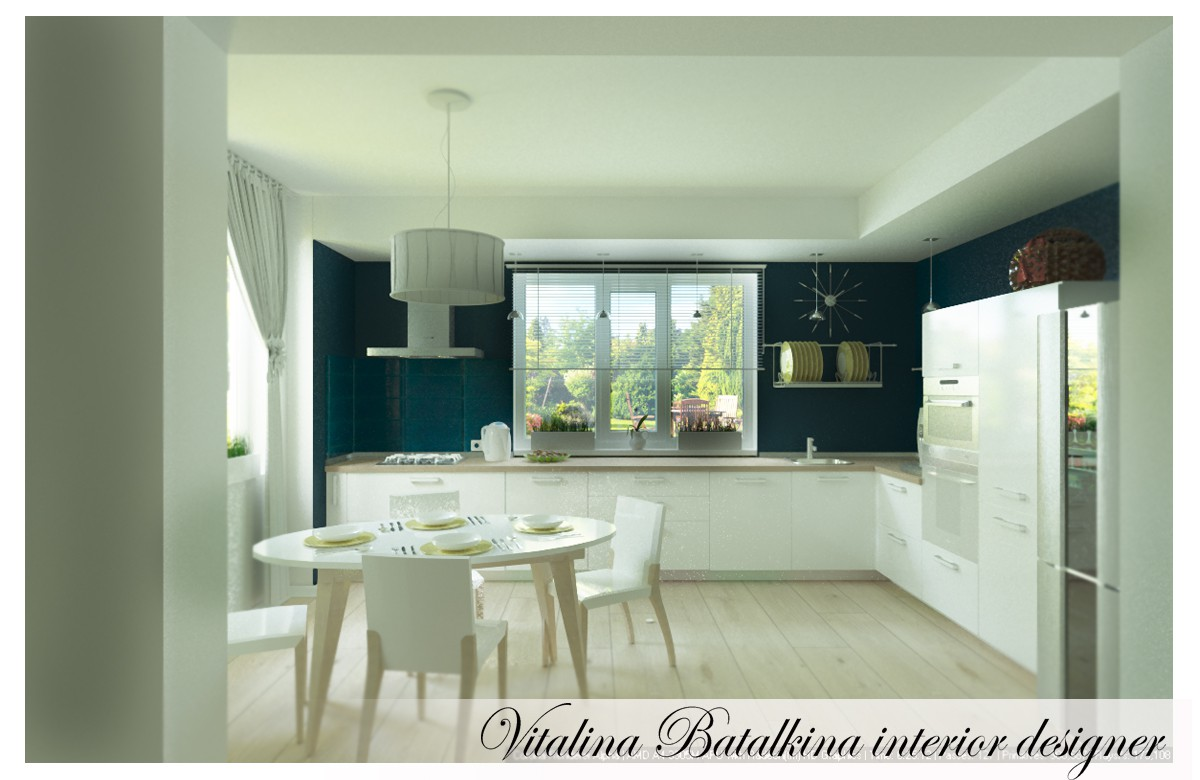 Another kitchen) in 3d max corona render image