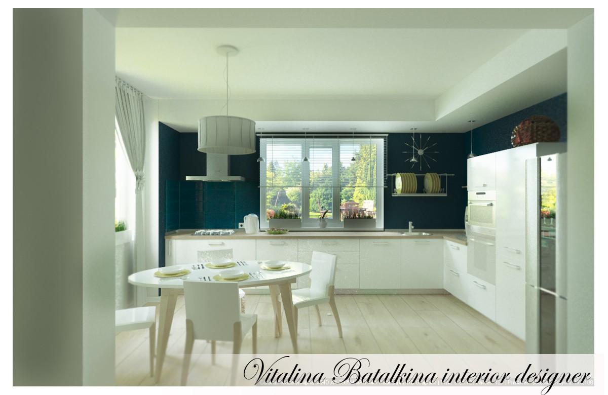 Еще одна кухня) в 3d max corona render изображение
