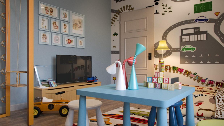 Детская для пацана в 3d max corona render изображение