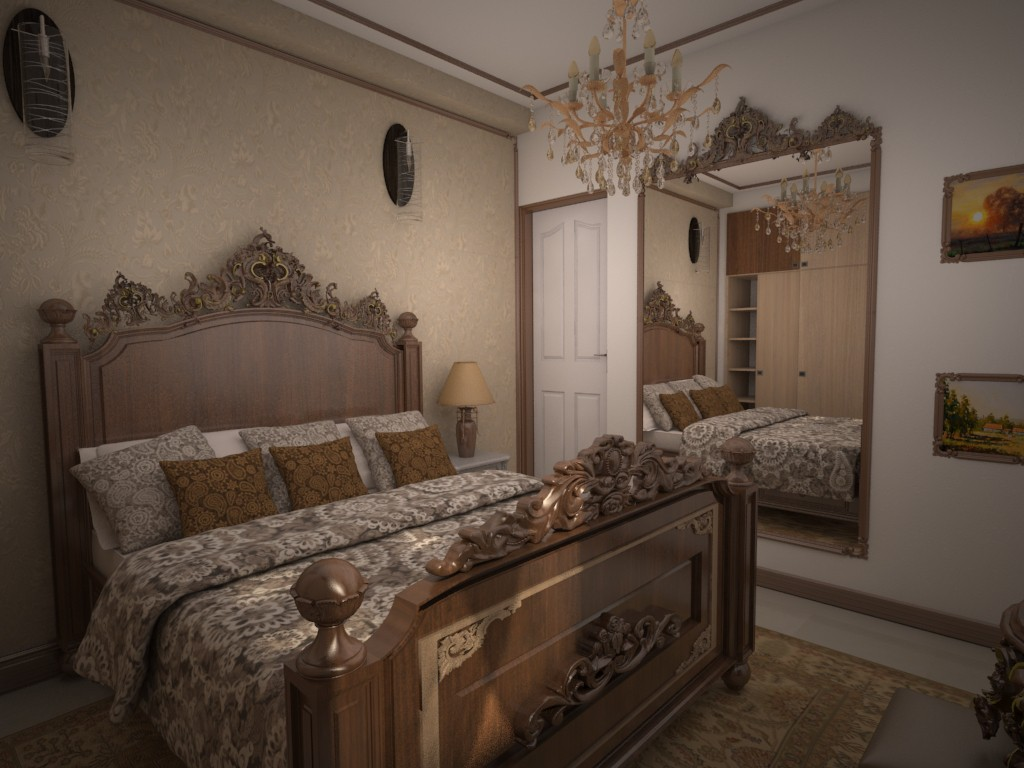 Classic Room in 3d max vray 2.0 image