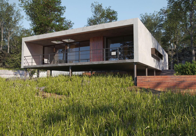 Заміський будинок в 3d max corona render зображення