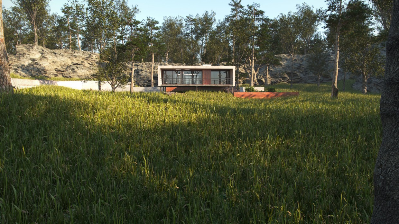 imagen de Casa de campo en 3d max corona render