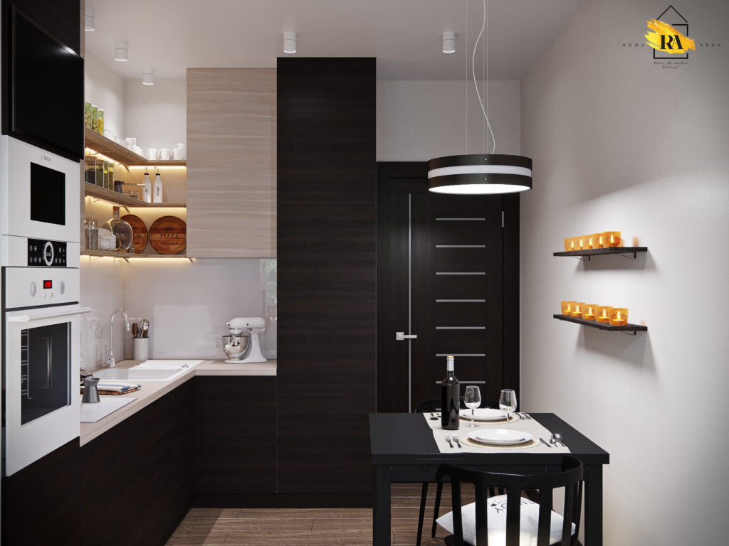 Kitchen - Chocolate (Stracatella) Alternative in 3d max vray 3.0 image