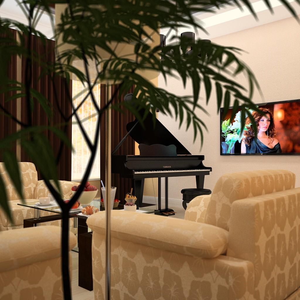 Комната музыканта в 3d max vray 3.0 изображение