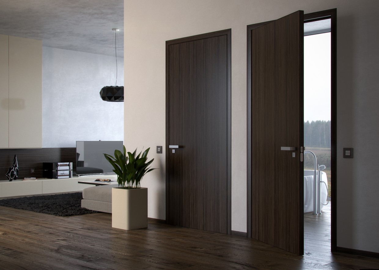 Door manufacturing showcase in 3d max corona render image