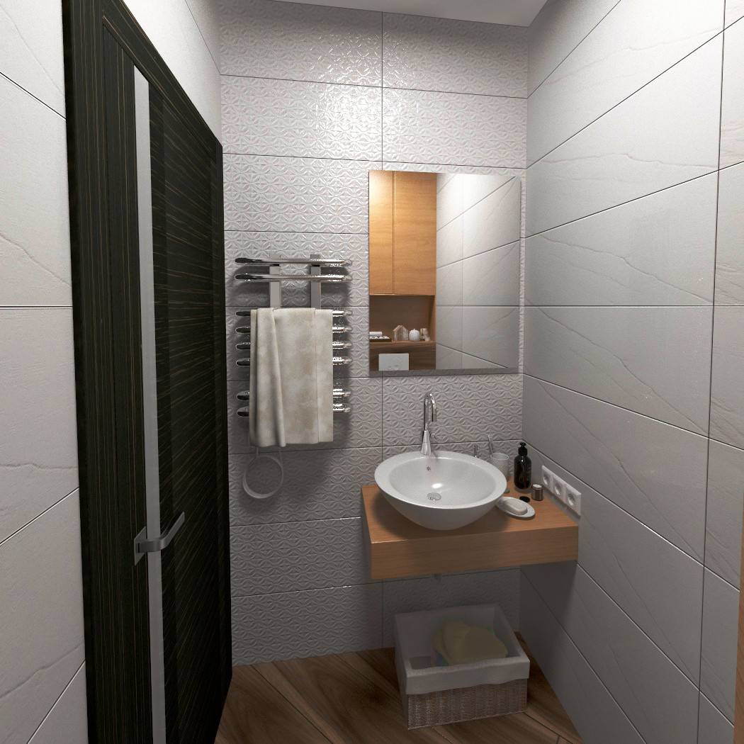 Guest bathroom in the apartment. in 3d max vray 3.0 image