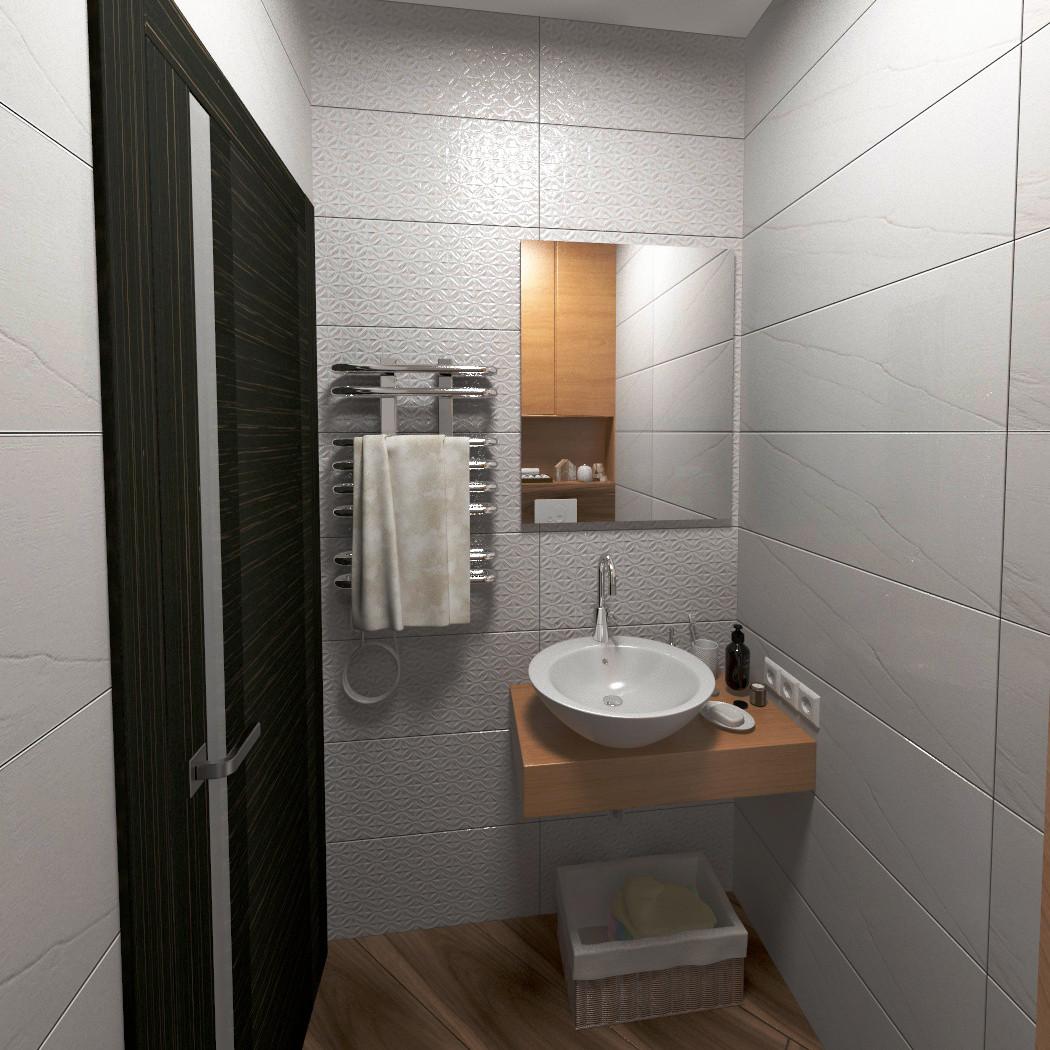 अपार्टमेंट में अतिथि बाथरूम 3d max vray 3.0 में प्रस्तुत छवि