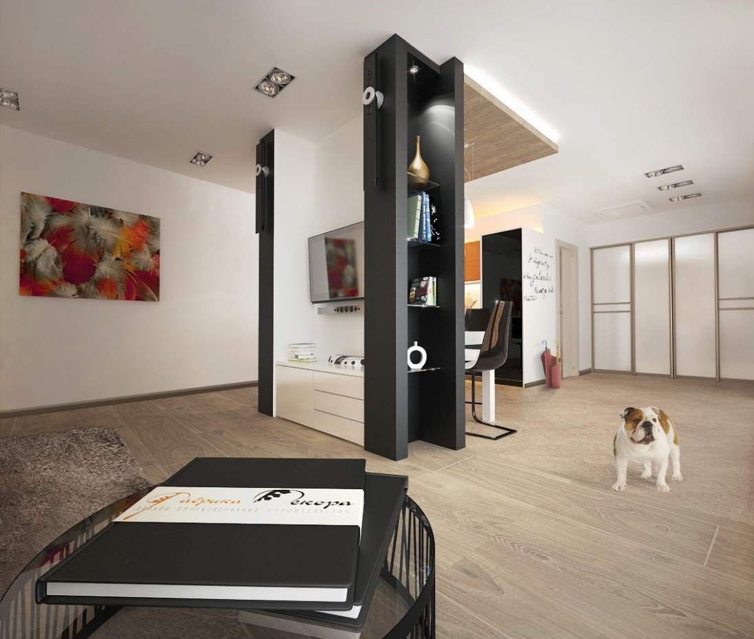 інтер'єр в заміському будинку в 3d max vray зображення