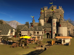 Середньовічне село