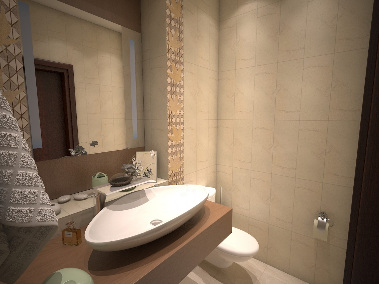 3d visualization of the project in the Bathroom tiles Maple brocade. 3d max, render vray of Евгений Поздняков