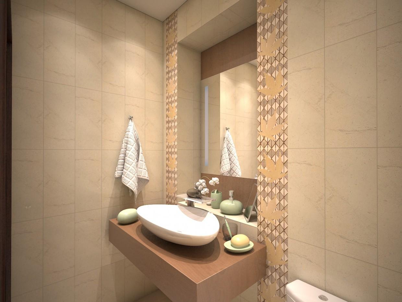 imagen de azulejos del baño de arce de brocado. en 3d max vray