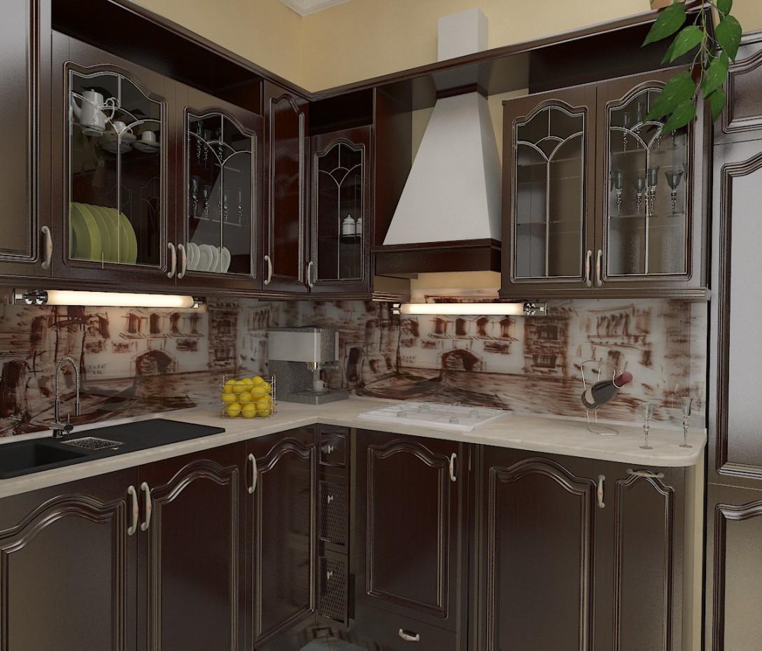 imagen de cocina estudio en 3d max vray