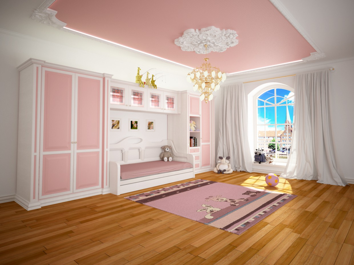 furniture for children in 3d max vray image
