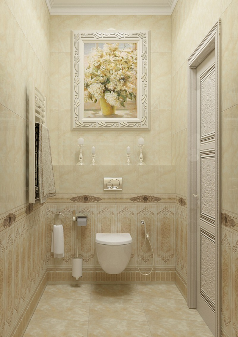 3d visualization of the project in the a bathroom 3d max, render vray of Расима Гайфутдинова