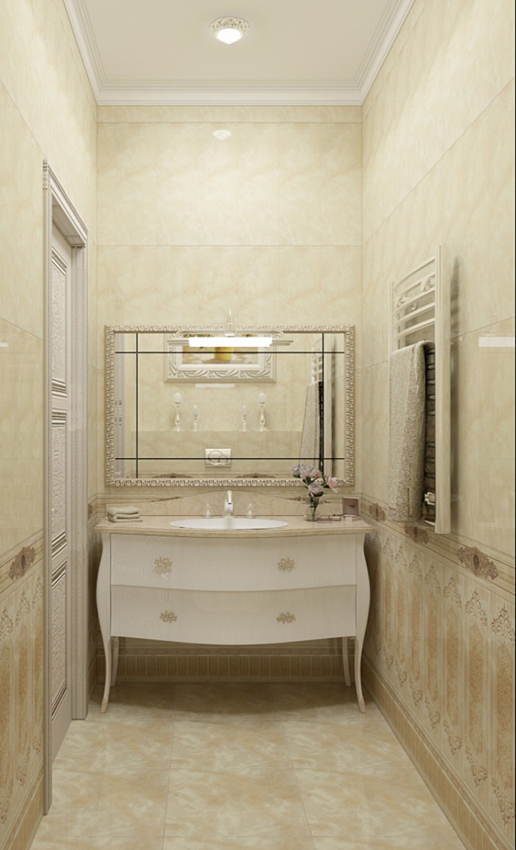 imagen de un cuarto de baño en 3d max vray