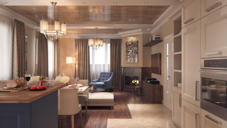Livingroom in 3d max corona render image