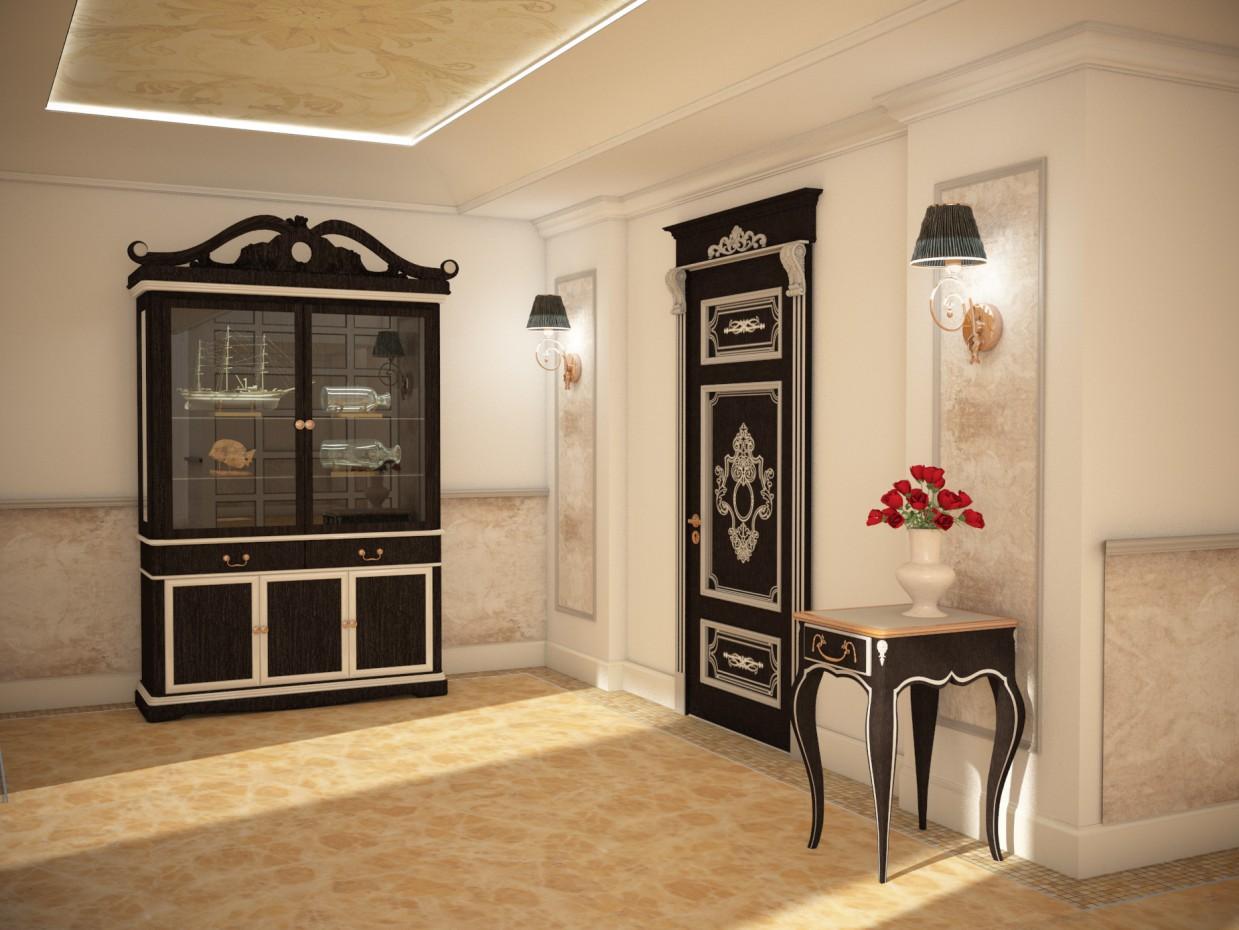 imagen de desarrollo de diseño de muebles en 3d max vray