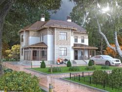 Casa rural - sala de verano, sala de otoño, visualización de noche