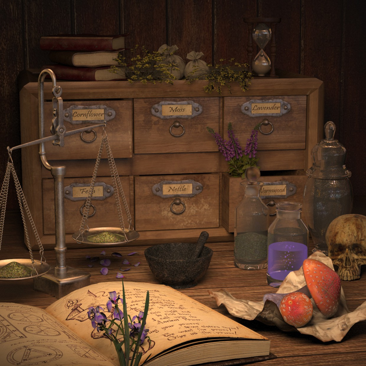 3d visualization of the project in the Alchemist Equipment 3d max, render vray 3.0 of llleeSh