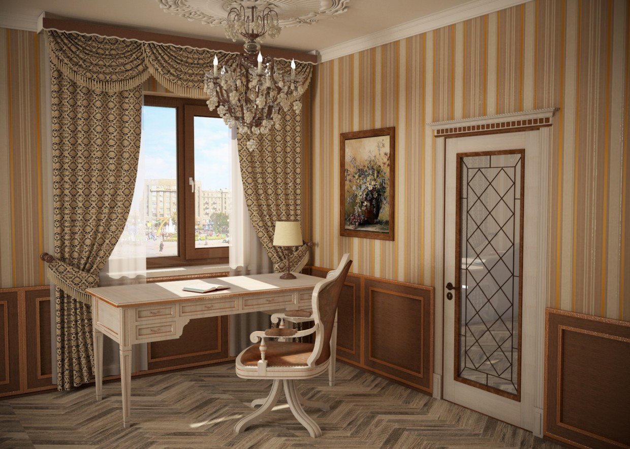 Development of furniture design in 3d max vray image