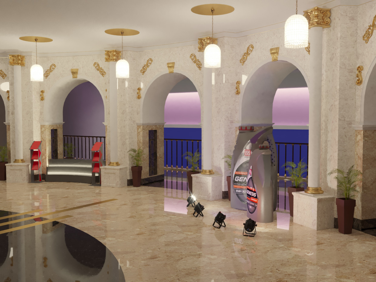 3d visualization of the project in the Hall Hotels of Ukraine 3d max, render corona render of Максим Хлоповских