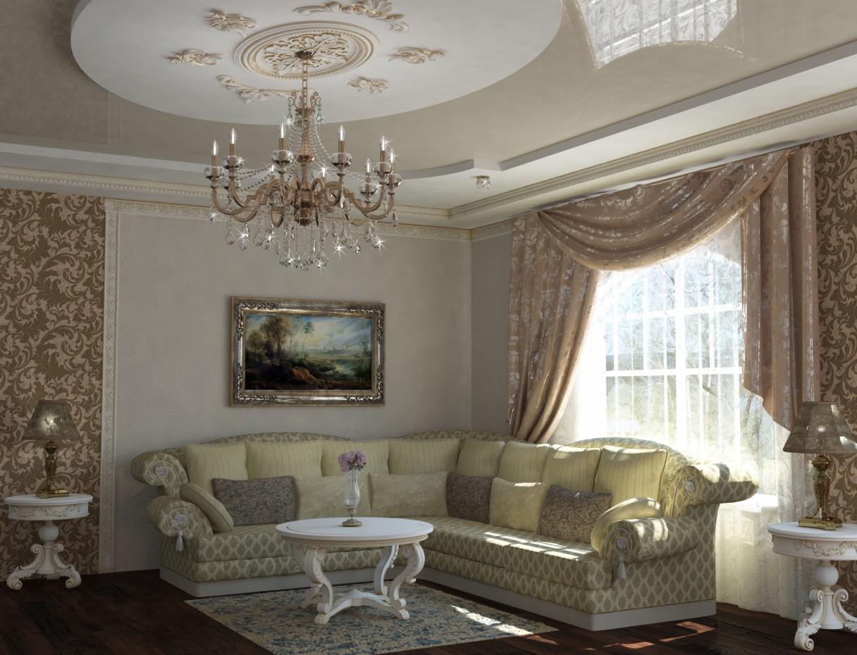visualización 3D del proyecto en el salón clásico 3d max render vray Professor ILay