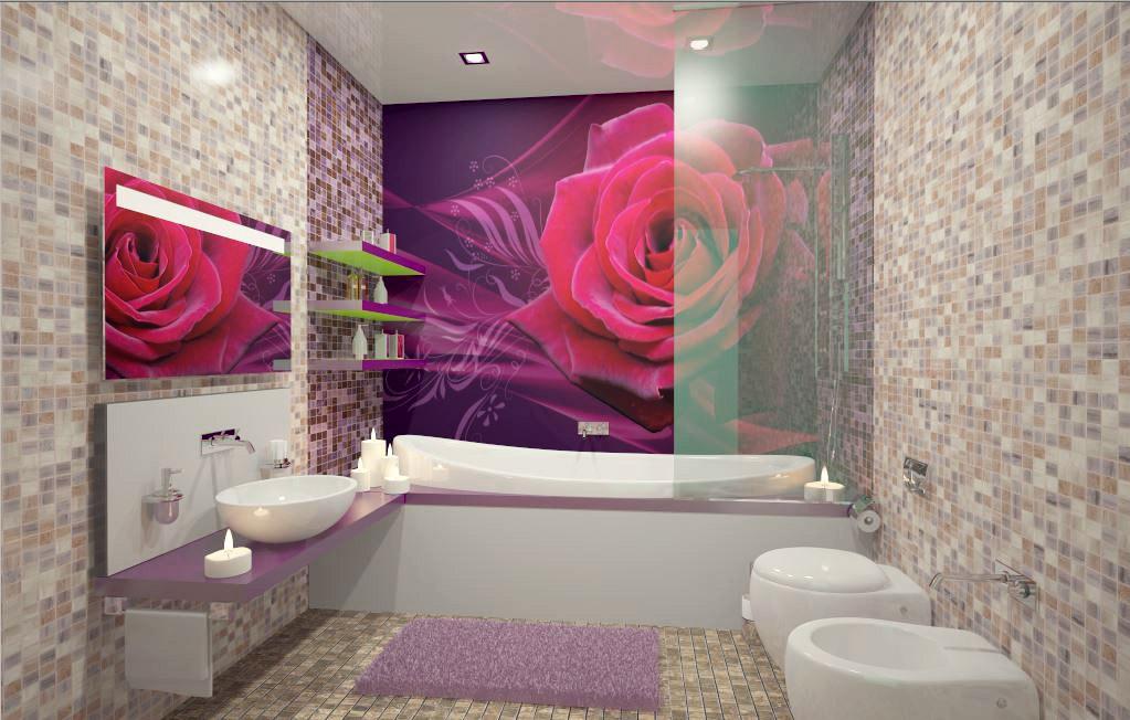 visualización 3D del proyecto en el Mosaico en el baño 3d max render vray 2.5 jupiter