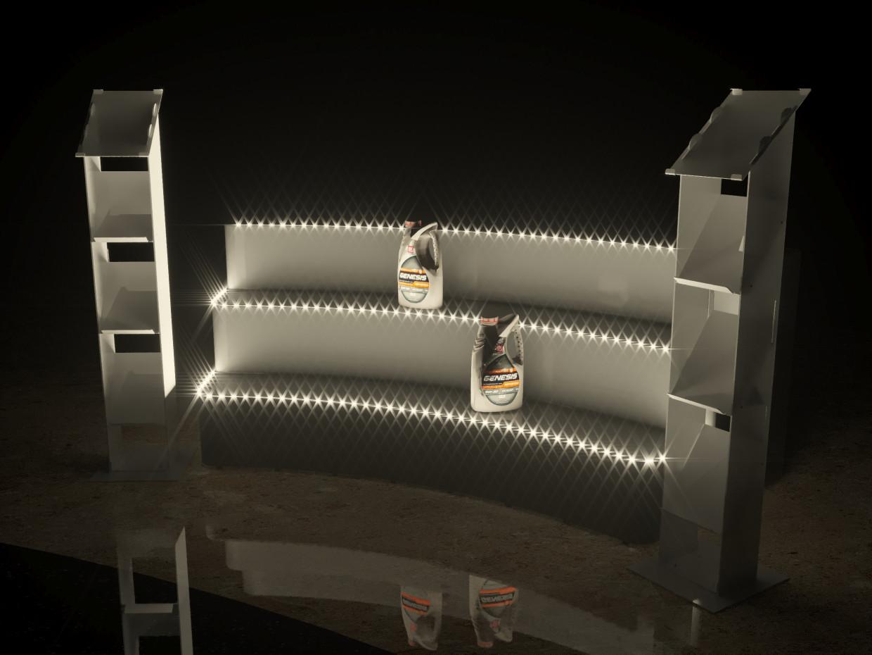 Podium in 3d max corona render image