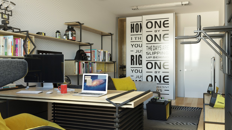 Student Room в 3d max corona render изображение
