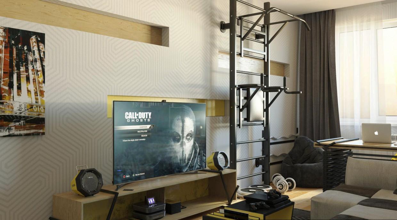 imagen de Habitación de estudiante en 3d max corona render