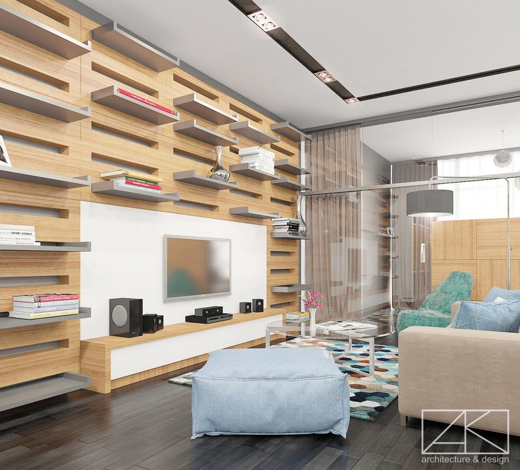 visualización 3D del proyecto en el El interior del estudio «Urban» 3d max render vray ...Dream