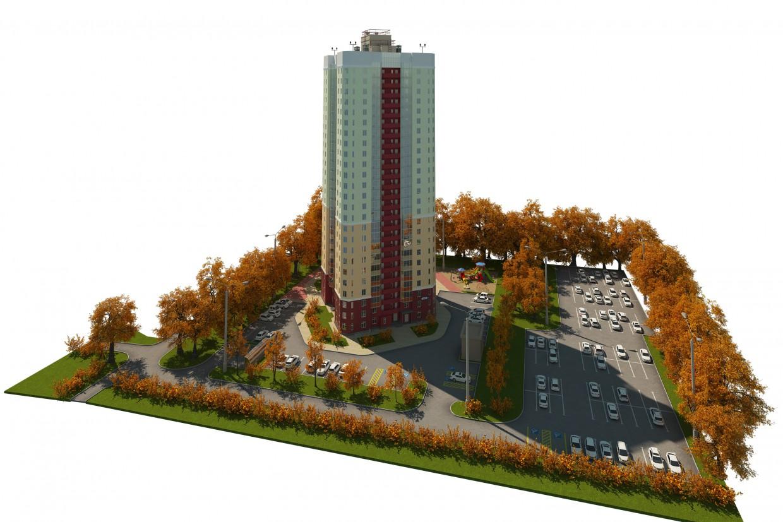 imagen de La casa en la calle Rastochnaya en 3d max corona render