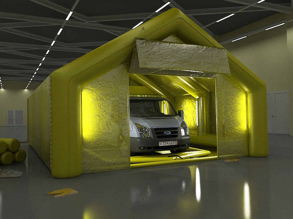 Visualization car in 3d max vray image